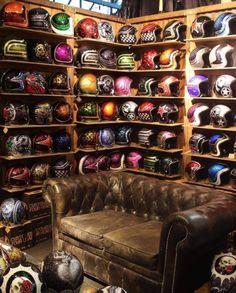 motorcycle Helmet idea to adapt for hunt caps and riding helmets Motos Vintage, Vintage Motorcycles, Custom Motorcycles, Bobber Helmets, Motorcycle Helmets, Riding Helmets, Vintage Helmet, Moto Cafe, Helmet Paint