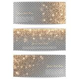 Set of horizontal banners transparent background Royalty Free Stock Photo Gold Background, Gold Confetti, Cupid, Gold Glitter, Banners, Backdrops, Royalty Free Stock Photos, Lights, Illustration
