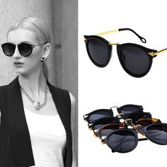 Cheap glasses portrait, Buy Quality glasses safety directly from China glasses protect eyes computer Suppliers: Women brand designer Sunglasses So real Round Coating mirror Sunnies Retro Oclulos De sol Men S093US $ 9.99/pieceQuality