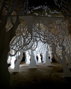Paper Forest by Lighting and Kinglyface