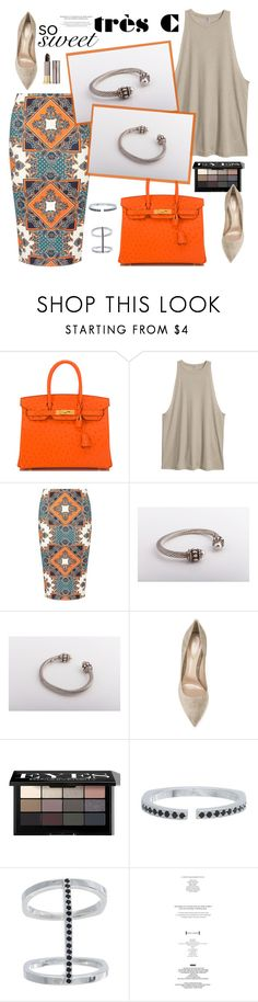 """""""Wanna buy it?"""" by sabinakopic ❤ liked on Polyvore featuring Hermès, Dorothy Perkins, Gianvito Rossi, Bobbi Brown Cosmetics, Urban Decay, vintage and trescjewelry"""