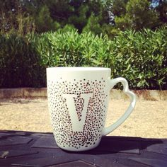 Items similar to Handpainted Personalized Monogram Mug ,Handpainted mug, Custom ceramic mug, Custom Initial Mug on Etsy Knitting Accessories, Monogram, Hand Painted, Mugs, Trending Outfits, Unique Jewelry, Handmade Gifts, Tableware, Sweaters