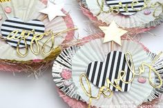 DIY Embellishments using Cupcake Liners and Toothpicks! Made by Serena Bee DIY party decor, DIY cupcake toppers, packaging ideas, happy mail