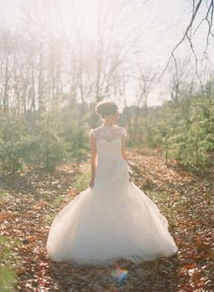 Dreamy #Rivini Wedding Gown | See the full gallery on #SMP Weddings: See the full gallery on #SMP Weddings:  http://www.stylemepretty.com/2013/01/01/new-years-wedding-shoot-from-anne-robert-something-vintage-rentals/ Photography: Anne Robert