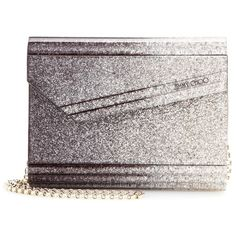 Jimmy Choo Candy Box Clutch ($735) ❤ liked on Polyvore featuring bags, handbags, clutches, grey, gray purse, hard clutch, hardcase clutch, grey purse and jimmy choo