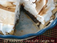 Mommy's Kitchen: Old Fashioned Chocolate Pie {Meringue Topping}