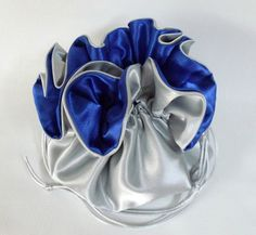 Dollar Dance Wedding Pouch Silver and Royal Blue No by EdieCastle Wedding Bags, Blue Bridal, Bow Sneakers, Design Your Own, Royal Blue, Amber, Dancing, Pouch, Satin
