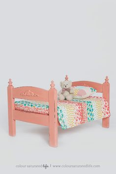 Vintage Makeover of the Duktig Doll's Bed - IKEA Hackers - IKEA Hackers