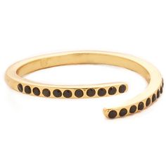 Gorjana Dita Split RIng ($46) ❤ liked on Polyvore featuring jewelry, rings, twist jewelry, gorjana rings, 18 karat gold ring, 18k jewelry et 18k ring