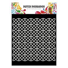 Pochoir mask Dutch doobadoo motifs fond