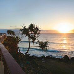 Sunrise at Coolangatta Beach, Queensland, Australia