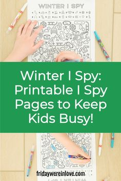 Keep your kids busy and entertained with a winter I Spy printable! Printable I Spy pages = screen-free educational fun!