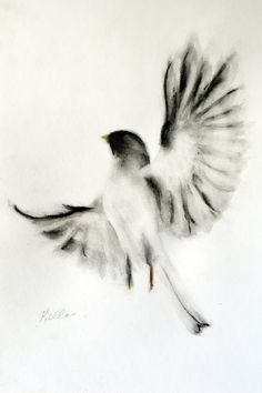 ARTFINDER: Proud Bird by Kellas Campbell - A proud and victorious bird!  I used Chinese ink applied with a calligraphy brush, charcoal sticks, and pastel pencil.    With his permission, I did this b...