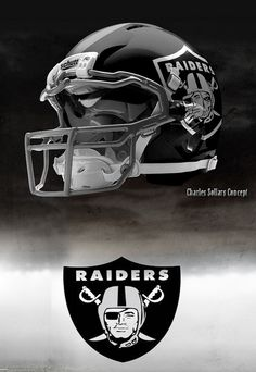 Oakland Raiders helmets