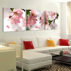 Flowers Canvas Painting Wall Art Picture Modern Oil Painting on Canvas Home Decor Paintings for Living Room Wall No Frame Abstract Wall Art, Canvas Wall Art, Canvas Prints, Wall Painting Flowers, Home Decor Paintings, Wall Paintings, Wall Painting Frames, Modern Oil Painting, Living Room Paint
