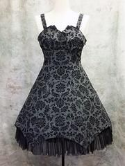 Ornament Flocky Jumper Gray x Black Flocky. See more at http://www.cdjapan.co.jp/apparel/mmm.html #gothic lolita #lolita fashion