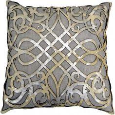 Grey Linen Pillow with Laser Cutting - Accessories - Pillows