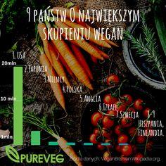 Kraje o największej koncentracji wegan na świecie wg VeganBits i Wiki Na wegańskie zakupy zapraszamy na www.pureveg.pl #weganizm #weganie #weganienaswiecie #weganiewpolsce #statystyki #pureveg