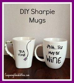 #DIY Sharpie Mugs - Super Cute! couponingtobedebtfree.com