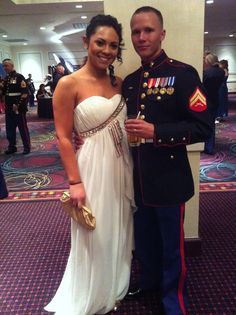 My dress and jewelry for the Marine Corps Ball | Marine corps ball ...