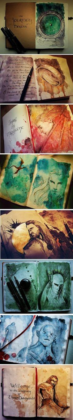 The Hobbit drawings