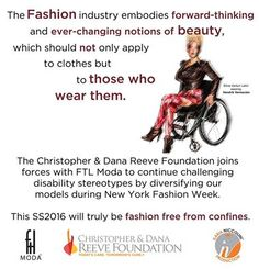 It is with the greatest pleasure and happiness that we announce our partnership with the Christopher and Dana Reeve Foundation, one of the most recognized and beloved foundations in the world. We are proud of this alliance and we look forward to building our fantastic synergy while continuing our commitment to enrich the fashion industry with our diversely able models! ‪ thanks to our spokes-model Silvia Venturi Latini, wearing ‪#HendrikVermeulen‬.