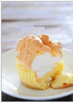 Mini Lemon Meringue Pies in 15 Minutes! These delicious confections have a shortbread cookie crust & a creamy lemon center topped with a silky meringue...all in just a few minutes of prep time!