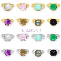 Alle Ringe gibts nun auch in Silber #tenebris #tenebrisjewelry #zurich #schmuck #jewellery #jewelry #fingerring #quarzring #rosequartz #crystalring #amethyst #chalcedonyring #24karat #moonstonering #mondsteinring #labradoritring