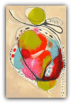 Flower Abstract Painting by ChristinaRomeo