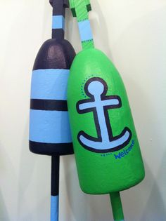 Hand-painted, custom lobster buoys by @lilylinqs // Gloucester, MA // gloucestergoods.com