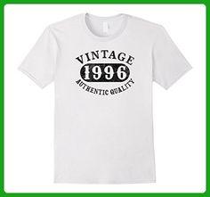 Mens 1996 Vintage 21 years old 21st B-day Birthday Gift T-Shirt XL White - Birthday shirts (*Amazon Partner-Link)