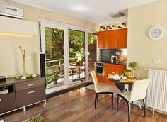 70 nm-es lakás az ősz színeiben - Biás Kata lakberendező Built In Wardrobe, New Builds, Extra Storage, Small Apartments, Kitchen, Table, Furniture, Home Decor, Colors