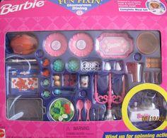 Barbie Fun Fixin' Glamorous Dining Playset (1997 Arcotoys, Mattel)