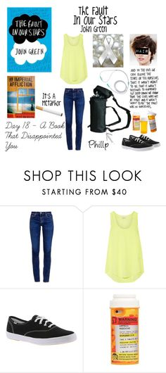 """""""Day 18 - The Fault In Our Stars - John Green"""" by jetblackheart2020 ❤ liked on Polyvore featuring AG Adriano Goldschmied, Equipment, Keds, Moschino and Betsey Johnson"""