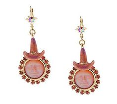 Kirks Folly Seaview Moon Witch Lever Back Earrings