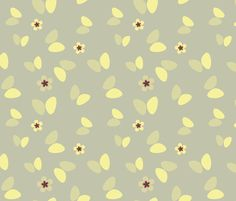 Retro meadow with butterflies fabric by ravynka on Spoonflower - custom fabric