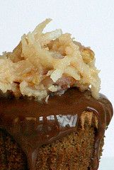 German Chocolate Cupcakes with Milk Chocolate Glaze. The BEST German chocolate cupcake I've ever tasted!