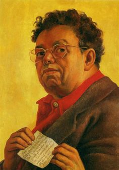 """I painted my portrait for the beautiful and famous artist Irene Rich, and it went to the city of Santa Barbara in southern California during the month of January of the year 1941.""  Diego Rivera"