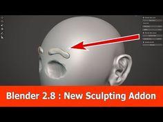 New Free Blender Sculpting Addon Fast Sculpt - BlenderNation Principles Of Animation, Blender Tutorial, 3d Tutorial, Blender 3d, 3d Modeling, Zbrush, Sculpting, 3 D, 3d Software