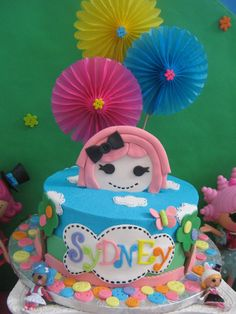 Adorable cake at a Lalaloopsy girl birthday party!  See more party ideas at CatchMyParty.com!