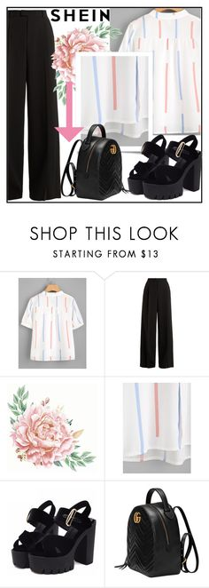 """""""SHEIN"""" by amilaaaas ❤ liked on Polyvore featuring RED Valentino and Gucci"""