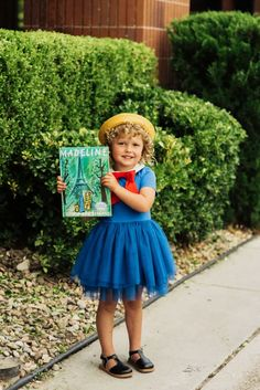Madeline – A Simple Book Character Costume – Taylor Joelle Book Character Day, Book Character Costumes, Book Characters, School Uniform Dress, Sailor Moon Outfit, Peter Pan, Kids Fashion, Halloween Costumes, Bows