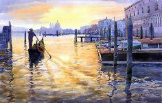 Italy Venice Dawning Yuriy Shevchuk