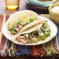 bbq chicken tacos...I have leftover grilled chicken and corn on the cob from this weekend, this recipe is perfect!