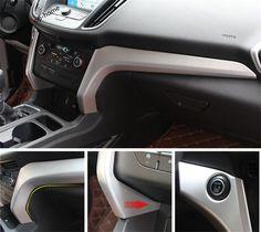 2 Pcs / Set For Ford Kuga / Escape 2017 ABS Central Control Instrument Panel Cover Frame Trim #Affiliate