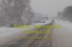 Winterize Your Emergency Preps -- Checklist