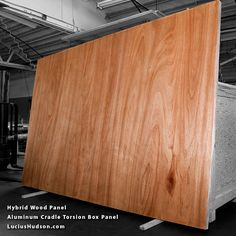 Hybrid Wood Panel - Torsoin wood panels combined with an aluminum perimeter
