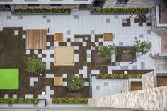 Gerstäckerstreet / KBNK / Two new buildings form a garden space with great urban identity. Landscape Architecture Design, Landscape Plans, Urban Landscape, Architecture Diagrams, Architecture Portfolio, Ancient Architecture, Sustainable Architecture, Modern Architecture, Poket Park