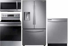 Shop for kitchen appliance packages at Best Buy. Find great prices on kitchen appliance bundles and suites from top brands. Appliance Bundles, Appliance Sale, Kitchen Appliance Packages, French Door Refrigerator, Cool Things To Buy, Samsung, Kitchen Appliances, Packaging, Laundry Room