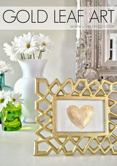 How to make your own DIY gold leaf art! Love this!